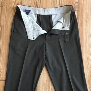 Brooks Brothers 346 Brown Wool Dress Pants